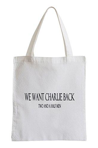 Nous voulons Charlie Retour Two and a Half Men série Fun sac de jute
