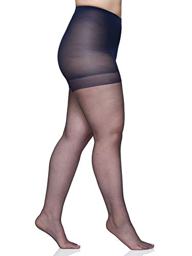 Berkshire Women's Plus-Size Queen Size Ultra Sheer Pantyhose - 4411, Navy, 1X-2X