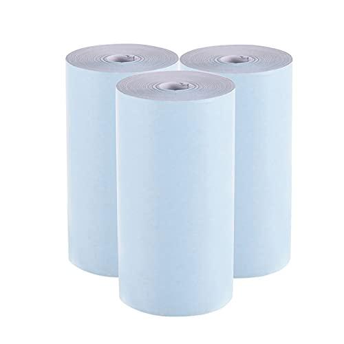 Staright Rollo de papel térmico en color 57 * 30 mm (2.17 * 1.18in) Billete de papel fotográfico Impresión clara para la impresora térmica de bolsillo A6 para la impresora de fotos P1 / P2,