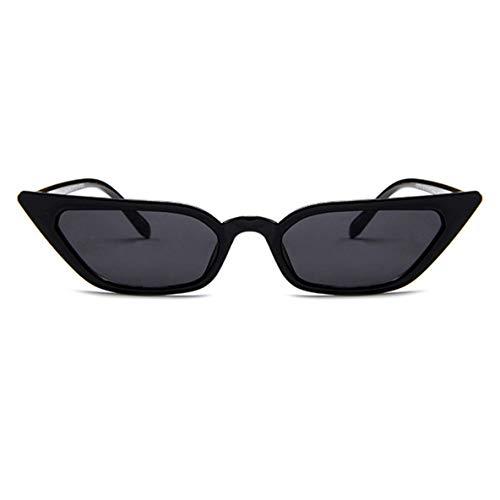 Libartly Gafas De Sol De Montura Pequeña Gafas De Sol Retro De Moda Gafas De Gelatina De Personalidad Gafas De Sol De Ojo De Gato De Moda - Negro-Gris