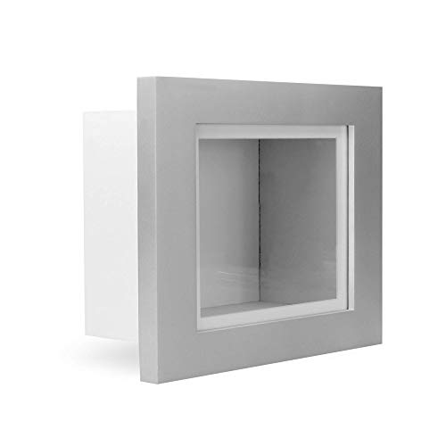 "Marco caja 3D | 3.75 ""marco de fotos con profundidad | Marcos para recuerdos | Caja para recuerdos | Accesorios para el hogar | M&W (Plata, 10x8)"