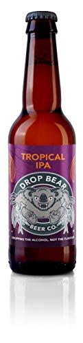 Drop Bear Beer | alkoholfreies Bier | alkoholfreies Premium-Handwerksbier | 330 ml-Flaschen (Tropical IPA, 12 Flaschen)