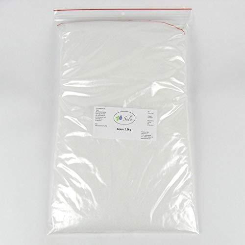SALA 2X Alaun Kalialaun Kaliumaluminiumsulfat 2500 g 2,5 kg (5 kg)