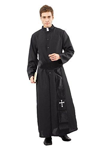Priester Pfarrer De Luxe Kostüm Herren Fasching Herren 52