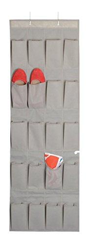 House Box RANGSU009 Rangement Suspendu à Chaussures avec 20 Poches Synthétique Beige 136 x 44 x 10 cm