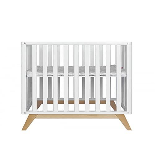 Alfred & Cie Gaspard - Parque para bebé, color blanco y madera