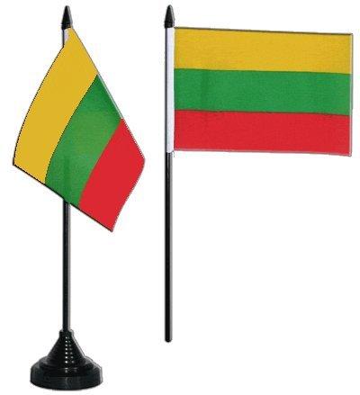 Tischflagge / Tischfahne Litauen + gratis Aufkleber, Flaggenfritze®