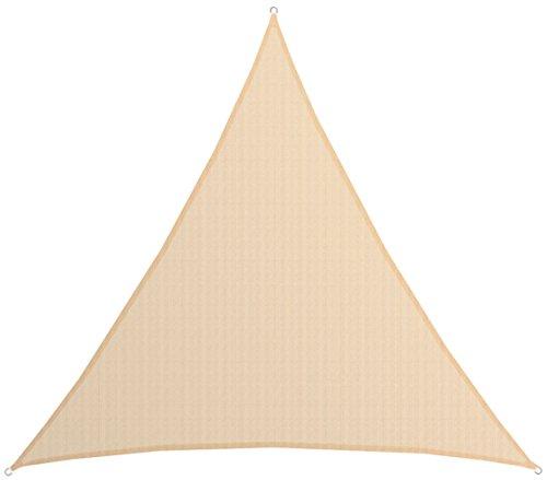 AMANKA UV Sonnensegel - 6x6x6 m HDPE Dreieck - Sonnenschutz Plane Überdachung Balkon Garten Beige