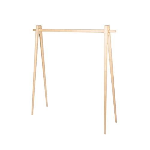 Z-W-DONG Estante de la capa sólida de madera, muebles de interior creativo Pasillo ropa al aire libre del carril de tipo abierto Dormitorio barra de colgar Casa de familia japonesa Shop Percheros