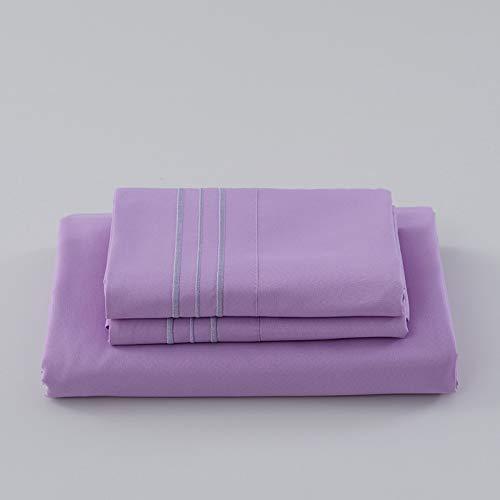 haiba Sábana bajera o fundas de almohada de franela de algodón cepillado, térmica, suave y acogedora, 137 x 190 cm + 40 cm