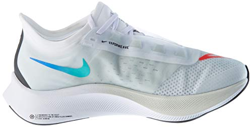 Nike Wmns Zoom Fly 3, Zapatillas para Correr Mujer, White Black Hyper Violet Flash Crimson Hyper Jade Racer Blue, 41 EU