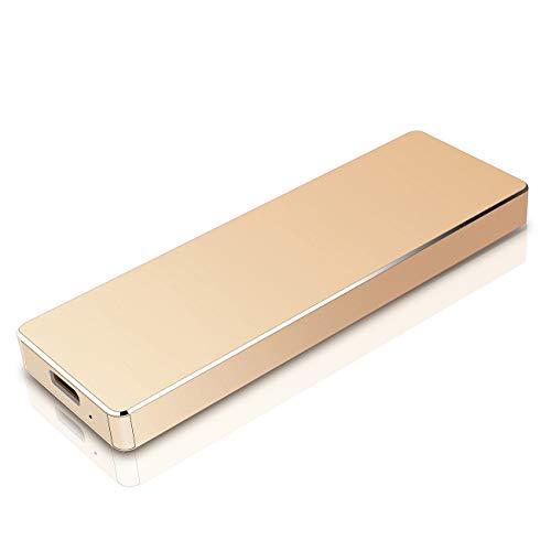 1tb External Hard Drive Ttpe C USB 3.1 for PC, Mac, Desktop, Laptop, MacBook, Chromebook, Xbox One, Xbox 360(1tb, gold)