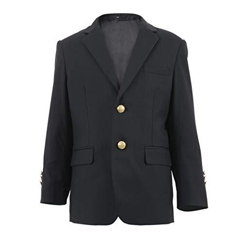 Alona Boys Formal Blazer Suits Jacket Outfit Dress Solid Color Black 8