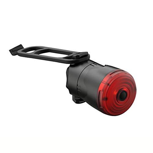 H.eternal(TM) Luz trasera inteligente con sensor de freno para bicicleta, luz trasera de bicicleta, luz LED recargable por USB, luz trasera impermeable para bicicleta, Montaje en poste