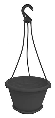 Pflanzen-Kölle Hängeampel Galicia, mit Aufhängung und Untersetzer, Kunststoff. D 30 x H 19 cm