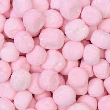 Chewy Strawberry Bonbons One Pound Bag Traditional British Candy Packed in a Clear Keep Fresh Polythene Bag Boxed and Shipped From England