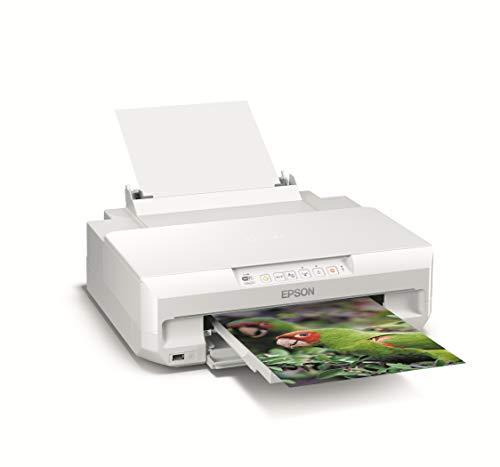 Epson Expression Photo XP-55 - Impresora fotográfica (impresión directa desde CD o DVD), color blanco, Ya disponible en Amazon Dash Replenishment