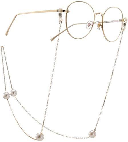 PJPPJH Cadena para Gafas Gafas de Sol Cadena óptica con la línea de Cadena en Las Mujeres Gafas Correa para el Cuello Cadenas para la Nieve Gafas Cuerda (Color: Dorado, Tamaño: 70 cm)