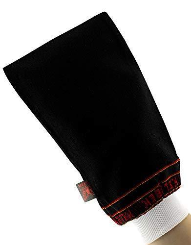 d'moRe Kese Peelinghandschuh Körper- Kese Peelinghandschuh Körper - Peeling Schwamm und Eingewachsene Haare Behandlung- Hamam Kese (schwarz)