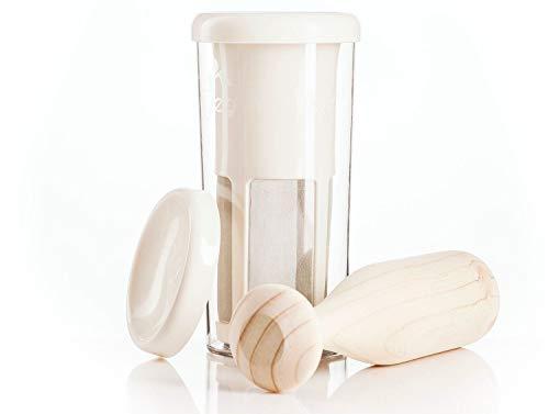 VEGAN MILKER Premium, Vegan Milch Maker. Pflanzenmilch aus beliebigen Samenkörnern. Erstellt 1 Liter in 1 Minute. Hergestellt in Europa. Kostenloses Rezept-E-Book (Veganmilker-Website) (Premium)