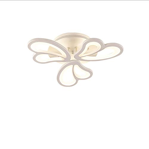Semi Flush Mount LED luz de techo estilo nórdico blanco lámpara de techo forma mariposa lámpara de techo para dormitorio salón lámparas