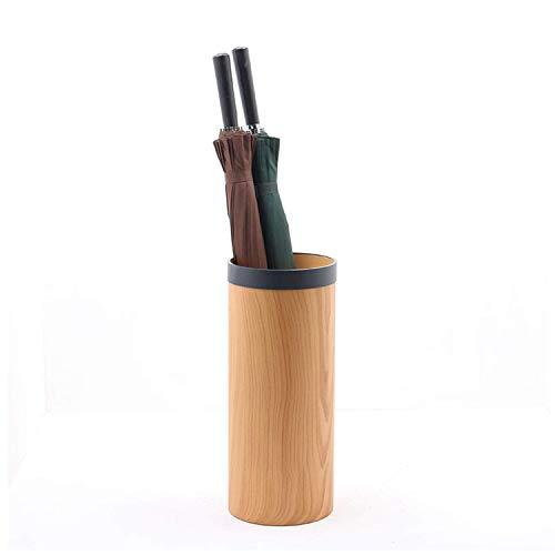 XCZZYC Soporte para Paraguas con diseño de imitación de Grano de Madera, Material de PVC, Resistente al Agua y a la oxidación, Soporte para Paraguas para la decoración del vestíbulo de la Sala de e