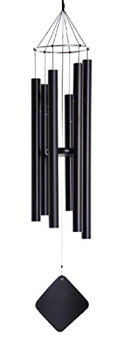 """Music of the Spheres - Pentatonic Mezzo, Small-Medium Handcrafted Wind Chime, Precision Tuned, Weather-resistant Unique Outdoor Wind Chimes, 38"""""""