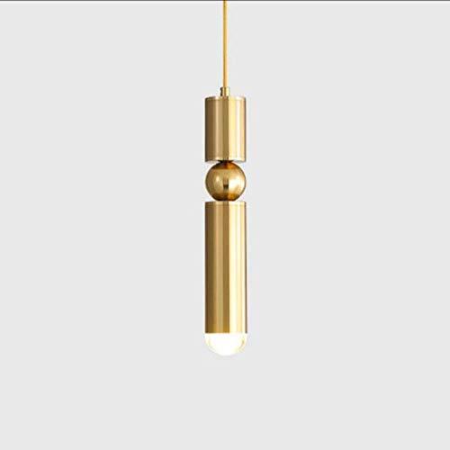 L-YINGZON comodino e Lampade da tavolo, Lampadari nordici LED, Moderno rame antico Acrilico Negozio di abbigliamento Illuminazione lampadario decorativi Lampadari Mini Simple Cafe Corridoio Tavolo da