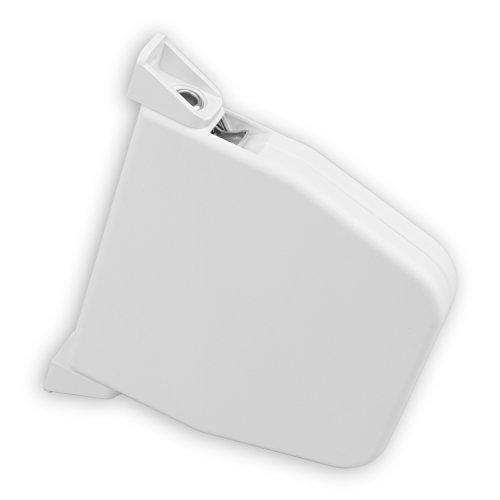 DIWARO® Mini Aufschraub-Gurtwickler | Lochabstand 145 mm | schwenkbar | ohne Gurt | für 5 m Gurt | weiß