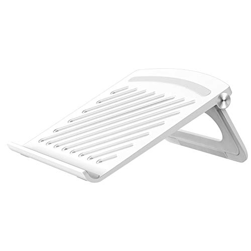Laptop Stand,Adjustable Laptop Riser With Heat-Vent,Adjustable Invisible Folding Laptop Stand,Suitable For Models Below 17 Inches All Laptops(White)