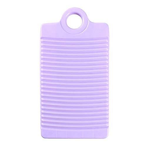 Ellepigy - Mini Tabla de Lavar de plástico, portátil, Antideslizante, Herramienta de Limpieza para Ropa, plástico, Morado, 31.5 * 16.5 * 2.5cm