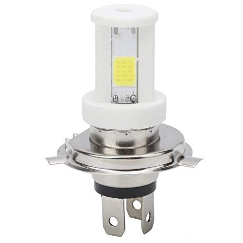 Bombilla LED para faros delanteros de motocicleta, H4 Bombilla LED para faros delanteros de motocicleta Luz blanca de haz alto/bajo Luz blanca 1080LM 6500K Lámpara delantera de motocicleta 9-12W Bom