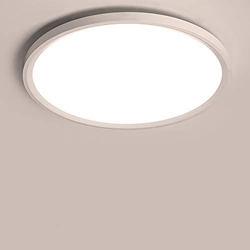 Yafido LED Lámpara de Techo Moderna 28W Plafón Led Redonda Ultra Delgado Downlight Blanco Cálido 3000K 2520LM adecuada para Cocina Balcón Dormitorio Corredor Sala de Estar Ø30cm