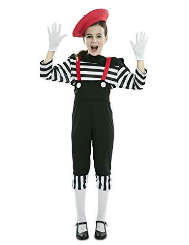 EUROCARNAVALES Disfraz de Mimo Circo para niña 10 a 12 años