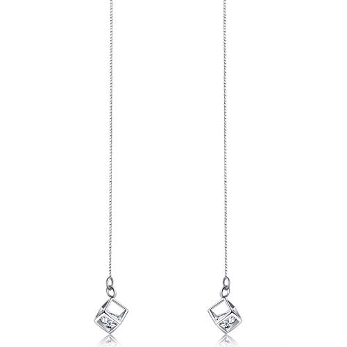 Zauberwürfel Ohrringe Lady Fashion Simple s925 Silber Lange Ohrringe