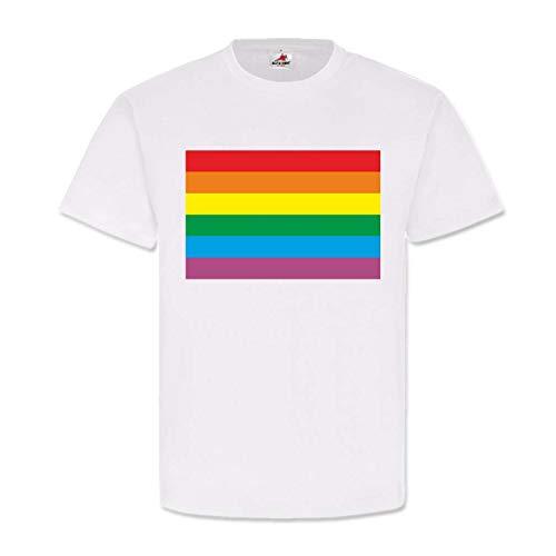 Tubula Fahne Homo Gay Flagge Pride Flag Rainbow Regenbogen Köln Colonge #22936, Größe:XXL, Farbe:Weiß