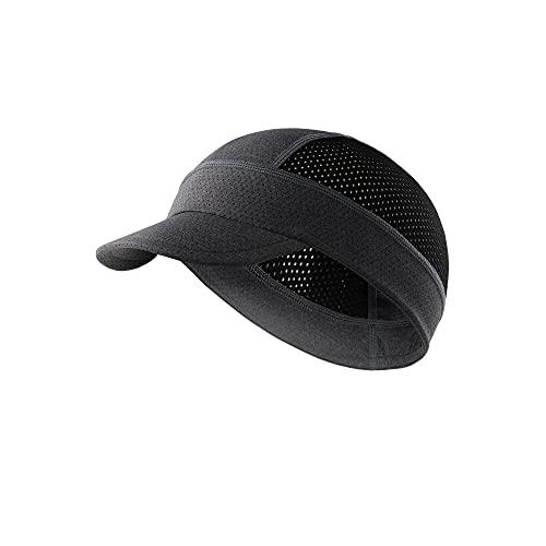 Arcweg Cycling Caps Under Helmet Bike Hat Breathable Anti Sweat Sunproof Cycling Hat Lightweight Bicycle Helmet Liner Cap Reflective Skull Cap for Men & Women Gray and Black