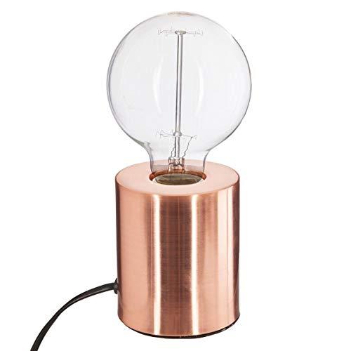 Lampe tube - 9 x 10,5 cm - Métal - Cuivre
