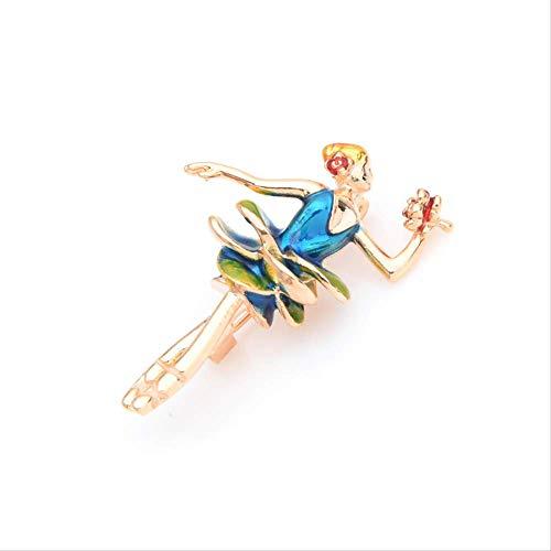 XZFCBH Vestido Azul Broches de niña para Mujer Aleación Rose Lady Broche...