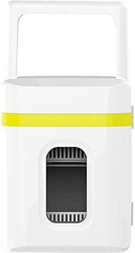 QAZXCV Mini refrigerador de 12 litros, pequeña Nevera congeladora/CC Sistema termoeléctrico Alimentado en Enfriador y Calentador para Bebidas Cosméticos Maquillaje Skincare,A