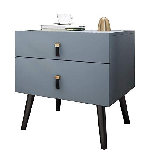 TXXM® Herstellung Nachttisch Holzplattenschubladenschrank mit starken Tragfähigkeits for Schlafzimmer, Studie, Etc. Praktische Möbel (Color : Blue)