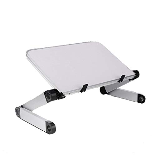 LTJTVFXQ-shelf Verstellbarer Laptop-Schreibtisch aus Aluminiumlegierung, ergonomischer Faltbarer Computertisch, tragbarer Frühstückstablett-Leseständer für Laptop-Computer