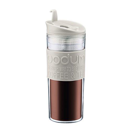 Bodum 11101–913Travel Mug, 0.45l tazza da viaggio plastica 8x 8x 20,8cm, Bianco
