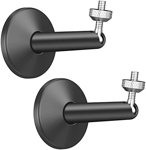 Arlo Kamera Wandhalterung Anti-Rost für Arlo, Wyze, KIWI design Wandhalterung Metall für Arlo, Wyze Cam Pan, Oculus Rift Sensor, HTC Vive Basisstation und Andere 1/4 Kamera(2 Stück Schwarz)