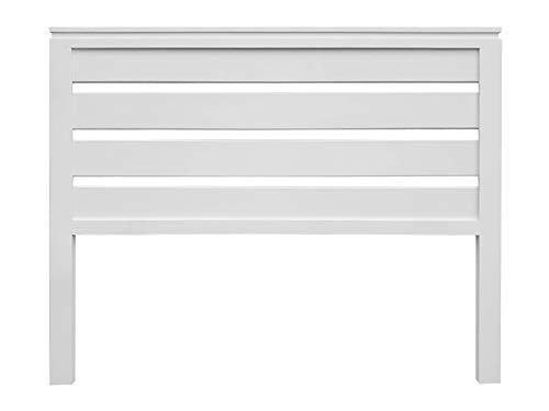 PEJECAR cabecero Modelo daimiel para Cama de 135 Fabricado en Madera de Pino insigni Maciza Lacado en Blanco