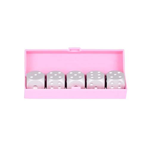5 stuks/set aluminiumlegering 16mm 6-zijdige dobbelstenen wijzen blokjes om de hoek doos voor Partij van het Huis spelen bordspellen