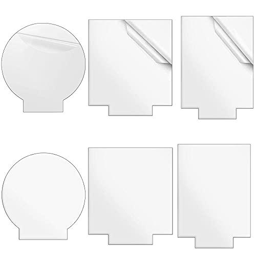 6 pannelli in acrilico trasparente, 2 mm, per base di luce a LED, segni, medaglie, artigianato, progetti di esposizione, 3 forme, rettangolari, quadrati, rotondi, 6 pezzi