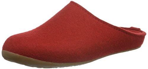 Haflinger Unisex-Erwachsene Everest Fundus Pantoffeln, Rot (Rubin 11), 40 EU