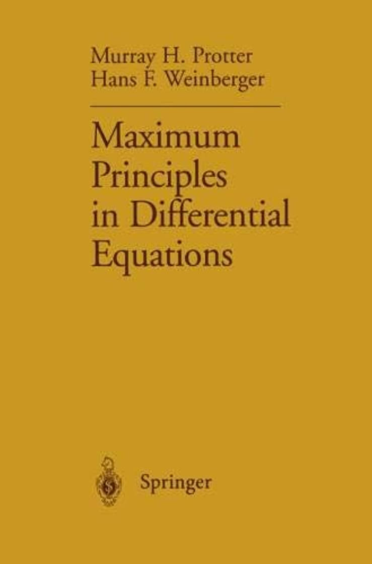 相対サイズましいスーツMaximum Principles in Differential Equations