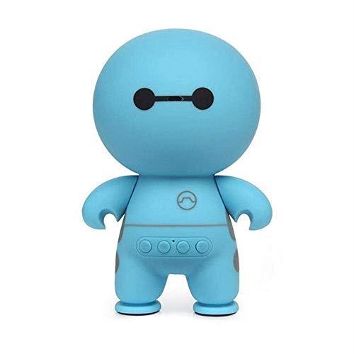 WOHAO Medios Dispositivo de Streaming Linda de Baymax Mini portátil inalámbrico Bluetooth Smart Speaker Manos Libres con micrófono Altavoz inalámbrico Bluetooth (Color : Blue)
